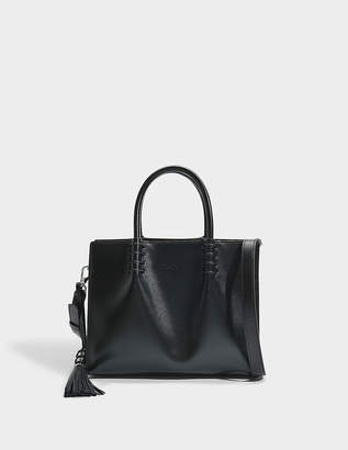 Tod's Lady Moc Small Shopping Bag in Black Calfskin
