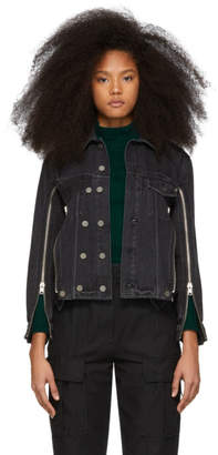 3.1 Phillip Lim Black Denim Zip Jacket