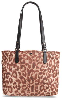 Kate Spade Medium Taylor Leopard Nylon Tote