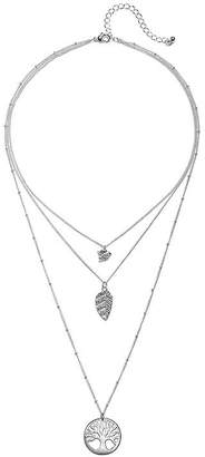 MIXIT Mixit Silver-Tone Tree of Life 3-Strand Necklace