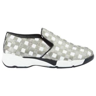Pinko Silver Cloth Trainers