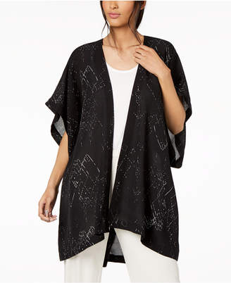 Eileen Fisher Silk Blend High-Low Kimono