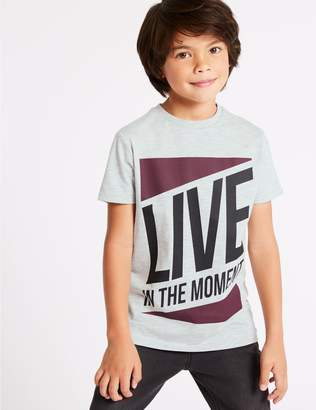 Marks and Spencer Live In the Moment T-Shirt (3-16 Years)