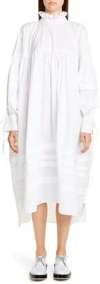 Cecilie Bahnsen Beate Pleated Long Sleeve Midi Dress
