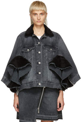 Sacai Black Denim Zip Jacket