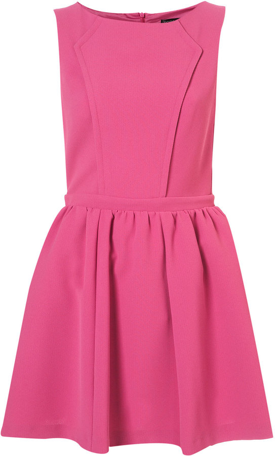 Topshop Textured Pique Skater Dress