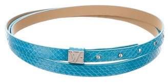 Diane von Furstenberg Snakeskin Double-Wrap Belt w/ Tags