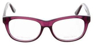 Jimmy Choo Star-Embellished Square Eyeglasses