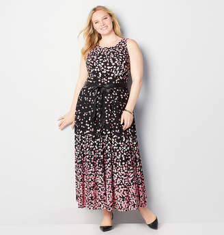 Avenue Pink Dot Maxi Dress