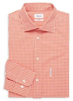Plaid Cotton Dress Shirt $175 thestylecure.com
