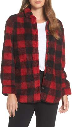 PJ Salvage Cozy Faux Fur Button Front Shirt