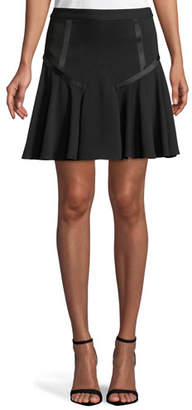 Halston Tape-Detail Flounce Skirt