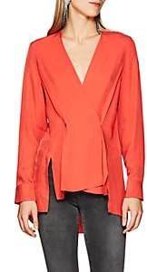 Rag & Bone Women's Debbie Polished Twill Wrap Top - Red