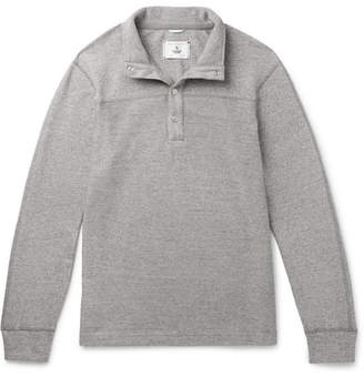 Reigning Champ Mélange Loopback Cotton-Jersey Half-Placket Sweatshirt