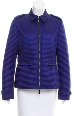 Burberry Pointed Collar Quilted Jacket