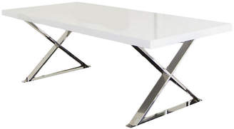 """One Kings Lane X-Leg 87"""" Dining Table - White Lacquer"""