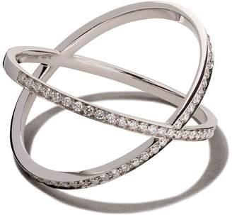 VANRYCKE 18kt white gold and diamond Physalis ring