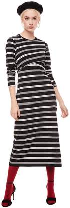 Juicy Couture Jxjc Striped Crossover Midi Dress