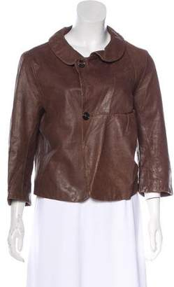Marni Leather Cropped Jacket