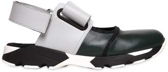 Marni 30mm Cutout Leather Sneakers
