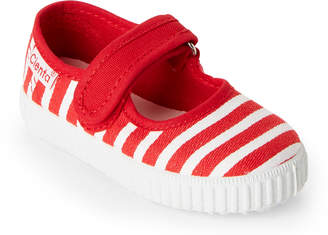Cienta Toddler Girls) Red Striped Ean Mary Jane Sneakers