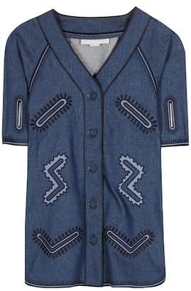 Stella McCartney Embellished denim top