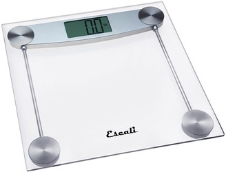 Escali Clear Glass Bathroom Scale