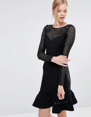 Forever Unique Silvia Bandage Dress With Pep Hem