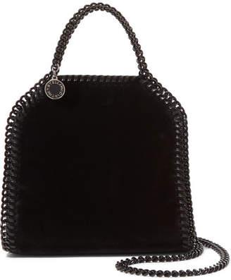 Stella McCartney The Falabella Tiny Velvet Shoulder Bag - Black