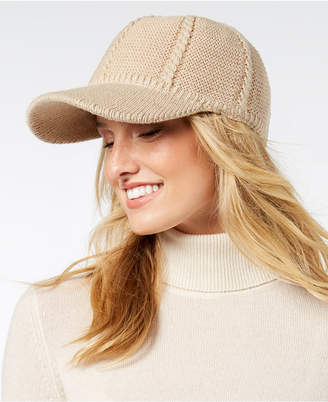 INC International Concepts I.N.C. Cable-Knit Packable Baseball Cap, Created for Macy's