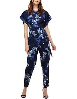 Phase Eight Berry Floral Jumpsuit