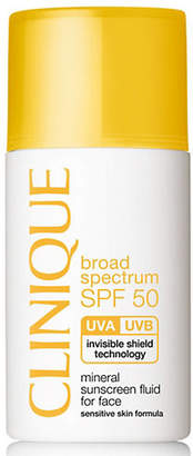 Clinique Broad Spectrum SPF 50 Mineral Sunscreen Fluid for Face/1 oz.