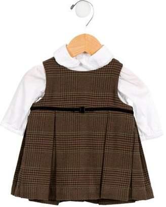 Ralph Lauren Girls' Houndstooth A-Line Dress