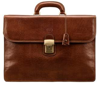 Maxwell Scott Bags Classic Tan Full Grain Leather Men S Briefcase