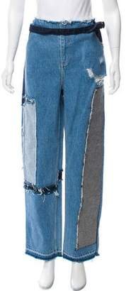 Tome Distressed High-Rise Jeans w/ Tags