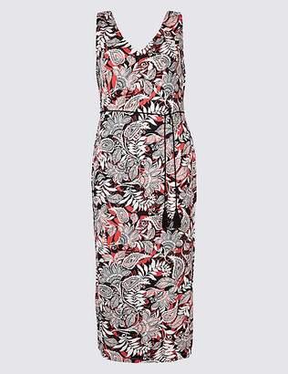 Marks and Spencer CURVE Paisley Print Slip Maxi Dress