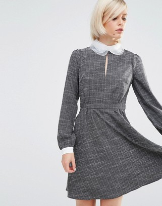 Lost Ink Contrast Collar Dress $65 thestylecure.com