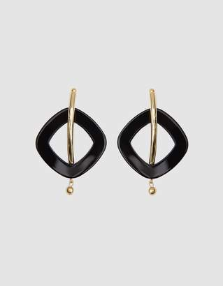Rachel Comey Realm Earrings in Black/Gold
