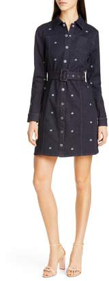 Ted Baker Colour by Numbers Rosarie Embroidered Denim Shirtdress