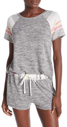 Kensie Knit Stripe Pajama Tee