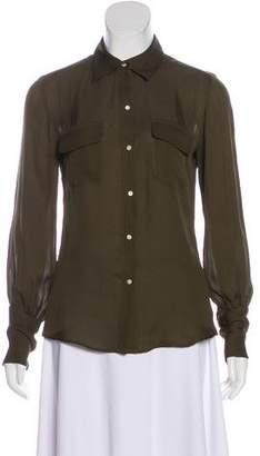 Nili Lotan Button-Up Silk Top