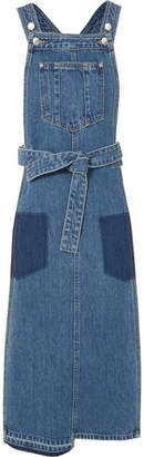 Sjyp Patchwork Denim Midi Dress - Mid denim