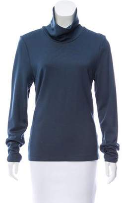 L'Agence Mock Neck Long Sleeve Top