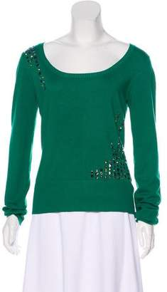 Versace Embellished Knit Sweater
