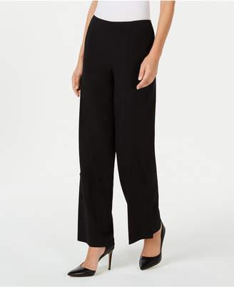 Nine West Button-Detail Wide-Leg Pants