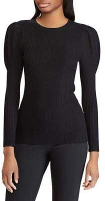 Polo Ralph Lauren Puff-Sleeve Ribbed Sweater
