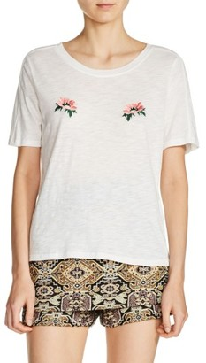 Women's Maje Floral Embroidered Tee $110 thestylecure.com