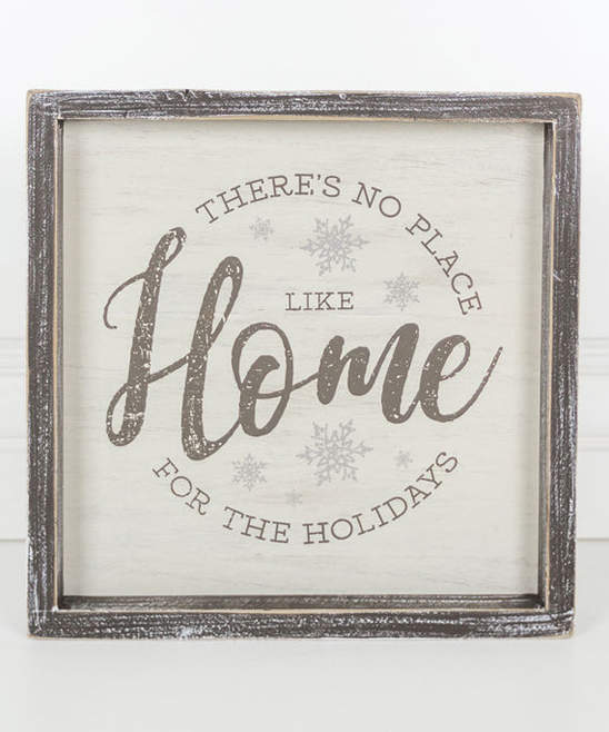 'Home for the Holdays' 10'' Framed Wood Wall Sign