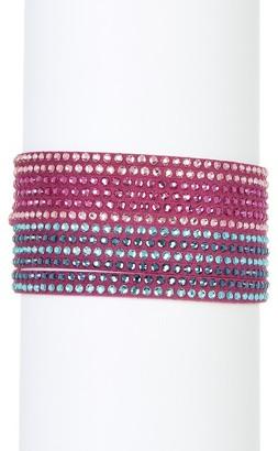 Swarovski Slake Multi Row Crystal Wrap Bracelet $69 thestylecure.com
