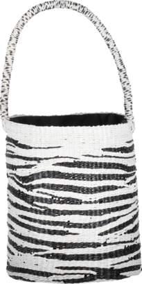 Sensi Studio Zebra Bucket Style Tote